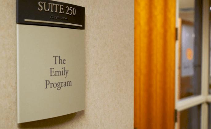 Emily Program sign