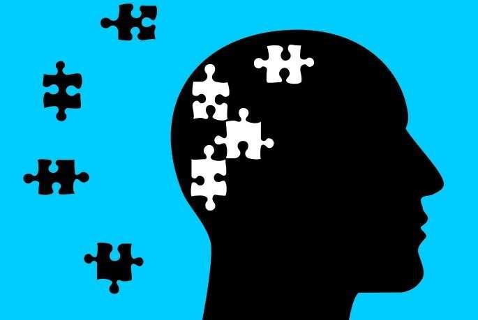 Puzzle brain graphic