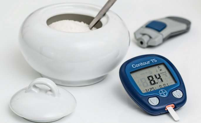 Sugar and blood sugar monitor