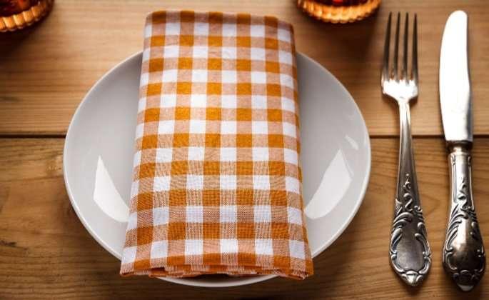 Kitchen cutlery orange